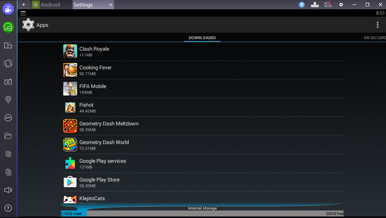 Cleaning Log Files Manually Unistalling Apps From Bluestacks