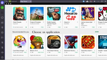 Downloading apps on Bluestacks